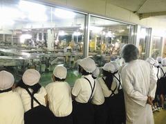 ㈱お菓子の香梅西原工場を見学