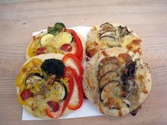 夏野菜とキノコのフォカッチャ