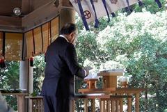 祭文を奏上する岩田泰一理事長