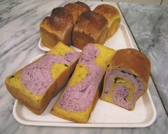 パンプキン&紫芋ブレッド