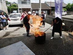 鰹の藁焼きたたき体験