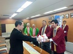 氷室まんじゅうを金沢市長へ贈呈