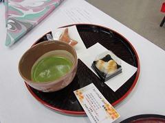 できたての上生菓子とお抹茶を堪能できる茶席