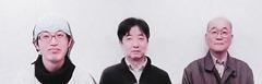 取材に応えて頂いた右が初代会長・法月吉郎氏(78歳)、中央が広報担当の山川仁志氏(55歳)、左が現会長・松村剛志氏(34歳)