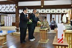 代表者による玉串奉典