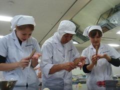 製餡の授業