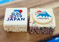 G20大阪サミット首脳会議にてコーヒーブレイクのお茶菓子として提供されたマシュー&クリスピー